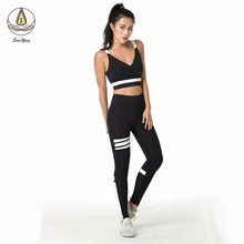 Black And White Sport Women Fitness Yoga Denim Pants Leggings Scrunch Butt Lift Gym  Workout Sports Wear Trousers Running With цены