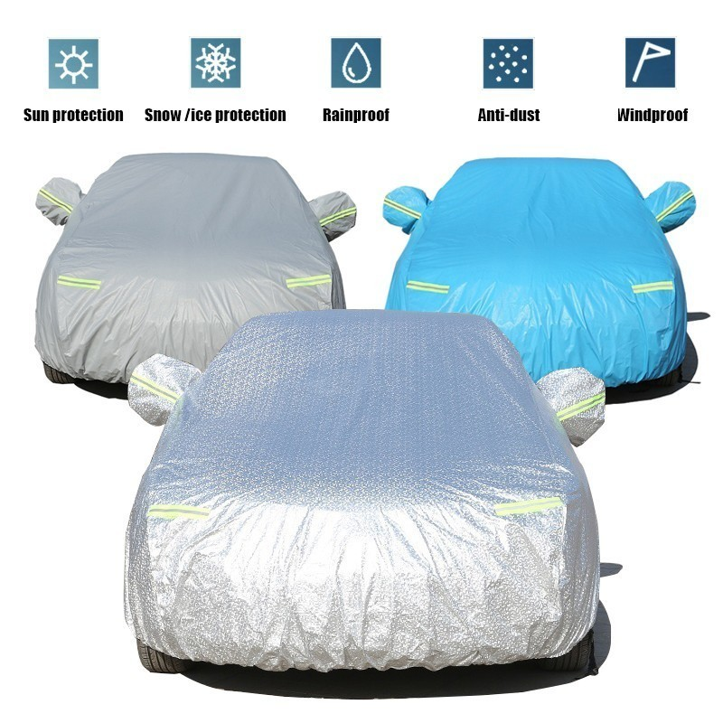 Full Car Cover For Honda Civic Indoor Outdoor Sunscreen Heat Protection Dustproof Anti Uv Scratch Resistant With Side Door Open