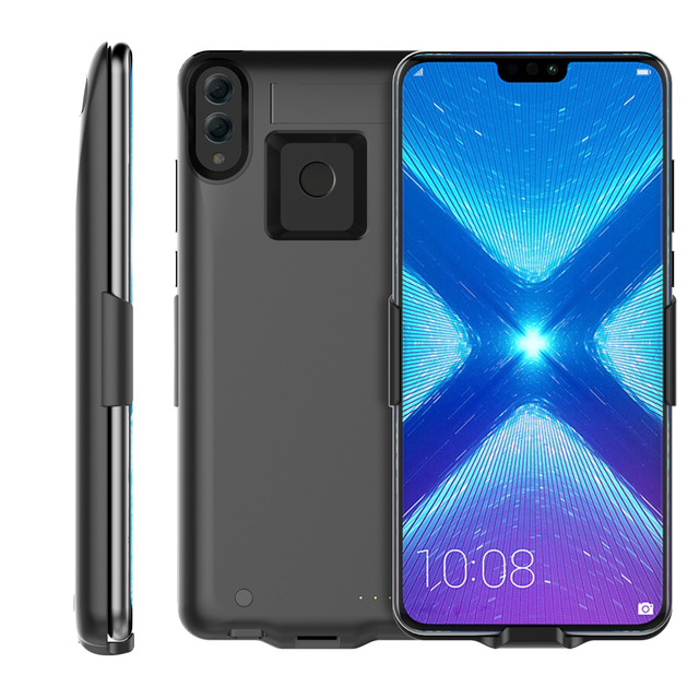 best service 88195 a9e9a US $18.08 40% OFF|For Huawei Honor 8X 6500mAh Battery Charger Case Extended  Battery Backup Power bank with Kickstand for Honor 8X phone Cover-in ...