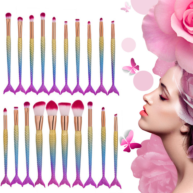 Mermaid Makeup Brushes Set