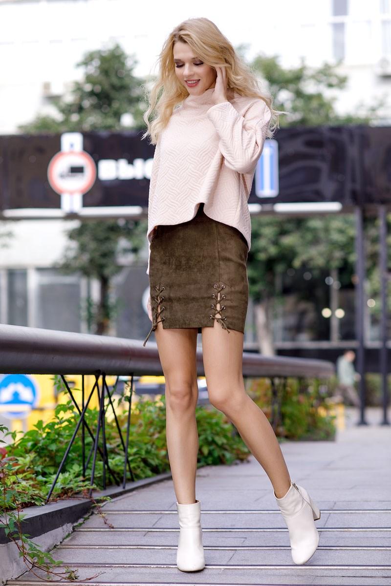 Skirt 2403541-35 double breasted pencil skirt