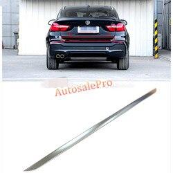 BMW X4의 2014 2015 스테인레스 매트 후면 테일 트렁크 리프트 게이트 성형 트림 커버