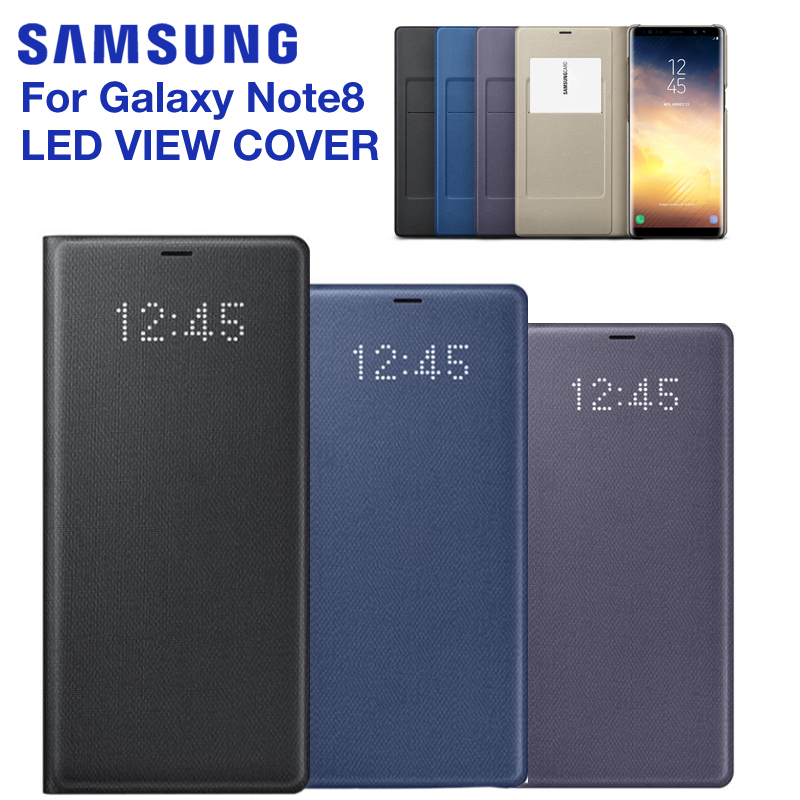 Samsung Original Led Smart Phone Case View Cover For Samsung Galaxy Note 8 Note8 N9500 N9508