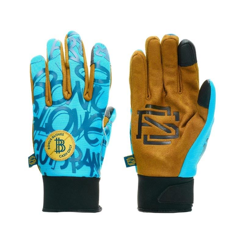 BONUS GLOVES - SPRING GLOVES industrial non slip wear labor insurance gloves latex flannelette rubber wrinkle grey yarn blue gloves
