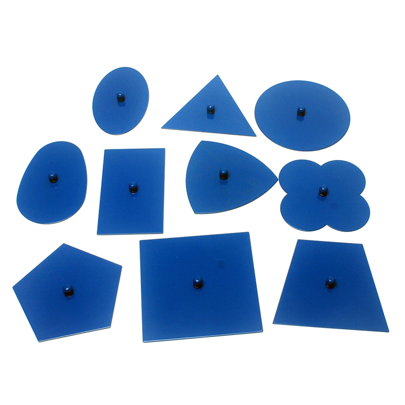 Bébé jouets matériaux professionnels qualité métal ensembles/10 petite enfance éducation préscolaire formes géométriques - 3