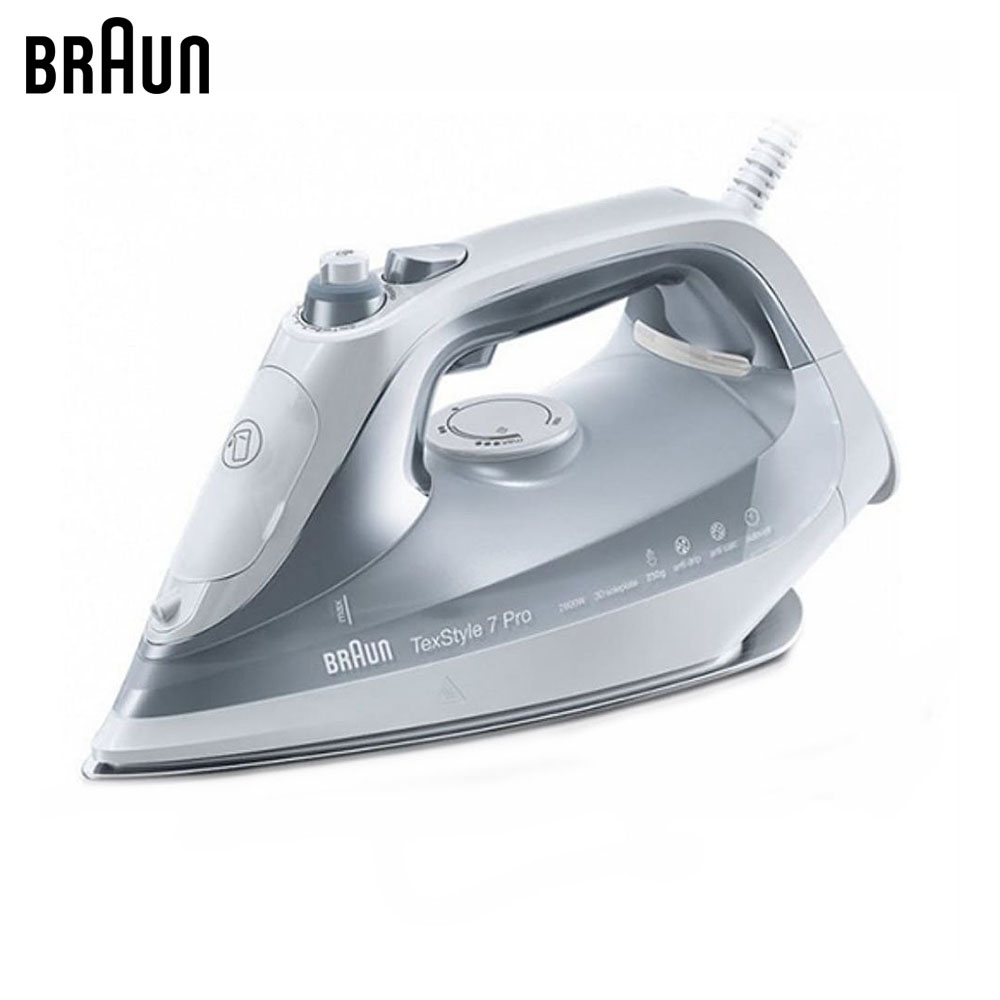 Electric Irons Braun TexStyle 7 SI7088 GY steam iron steamer electric irons braun texstyle 5 ts535 tp steam iron steamer