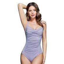 Swimwear One Piece 2019 Top Quality Striped Swimsuit Womens Sexy Shoulder Straps Swimsui Monokini Beach Bathing Swimming Suit