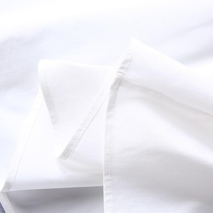 2018 nouvelle robe de mode de haute qualité robes de piste d'été femmes marque chemise blanche robe de luxe vêtements pour femmes - 6