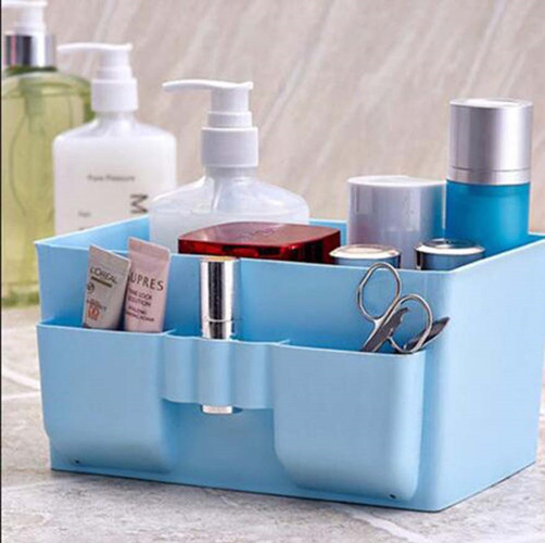 Home Storage & Organization Lower Price with Meyjig Makeup Organizer Cosmetic Storage Box Desk Bathroom Organizer Large Capacity Makeup Display Case Brush Lipstick Holder Harmonious Colors