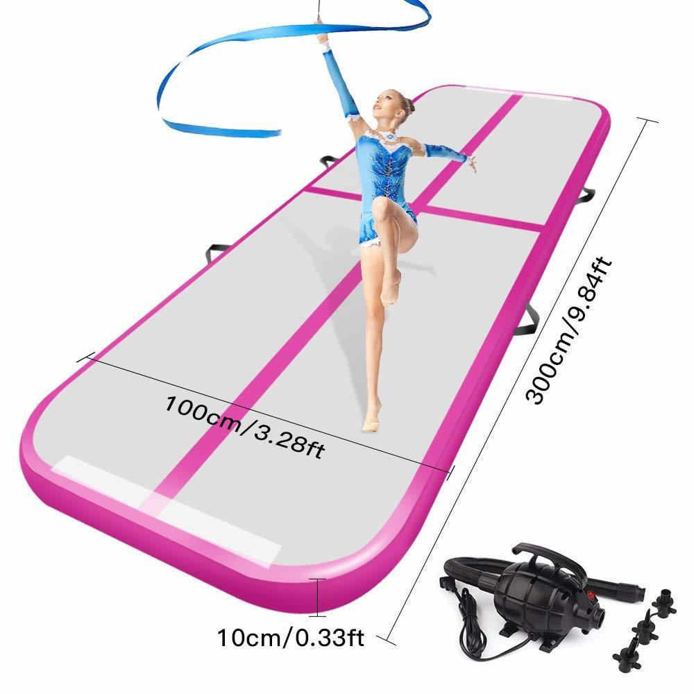 Воздушный трек акробатика коврик для занятий гимнастикой, надувные Airtrack коврики с электрический воздушный насос для дома Применение Чирли...