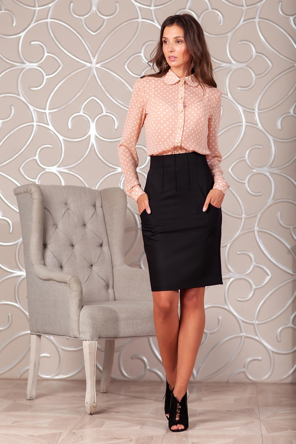 Skirt 2401800-02 double breasted pencil skirt