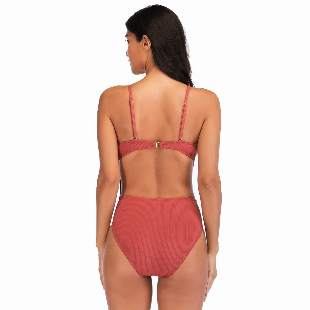 2019 Sexy One Piece Swimsuit Hollow Out Swimwear Women High Waisted Bikinis Bathing Suits Beachwear Backless Maillot De Bain in Body Suits from Sports Entertainment