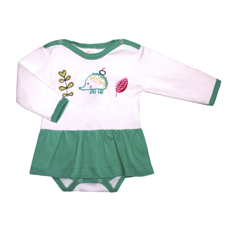 Available from 10.11 Kotmarkot Baby Girls Fashional Bodysuits White&Green 9939