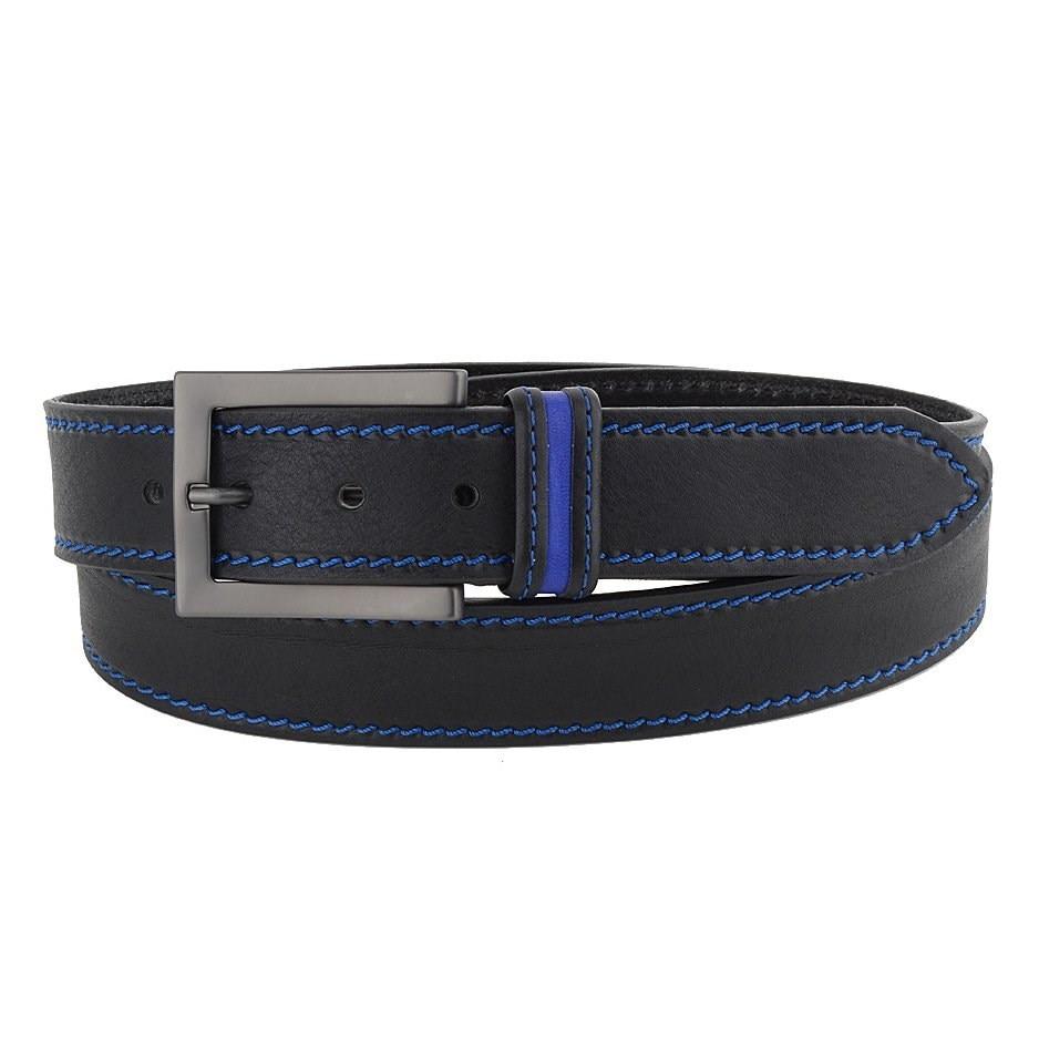 Belt Jean Sergio Belotti 19960/40 Stripe blue M chic stripe decorated buckle leather waist belt for men