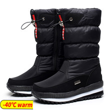 Women snow boots platform winter boots thick plush waterproof non-slip boots fashion women winter shoes warm fur botas mujer(China)