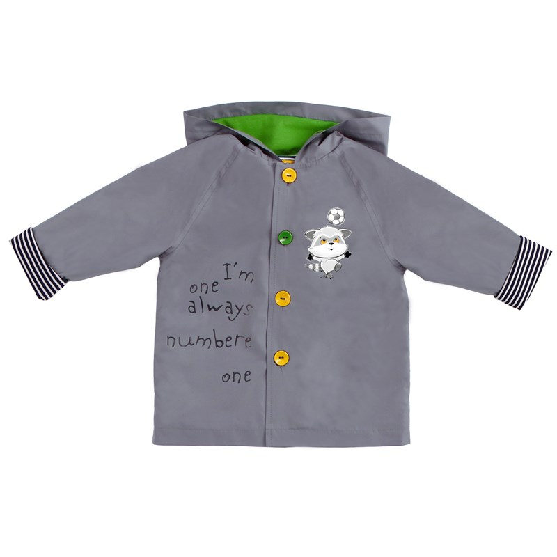 Basik Kids Trench Coat gray lapel cotton trench coat