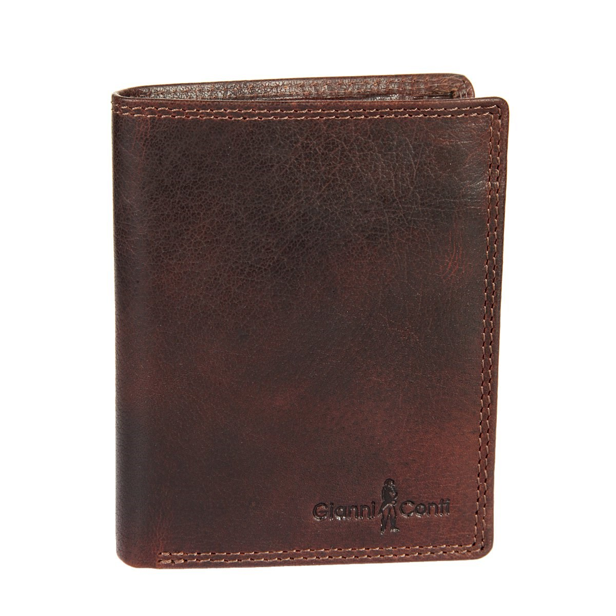 Coin Purse Gianni Conti 1077219 Tan simline vintage genuine crazy horse cow leather men men s long hasp wallet wallets purse zipper coin pocket holder with chain