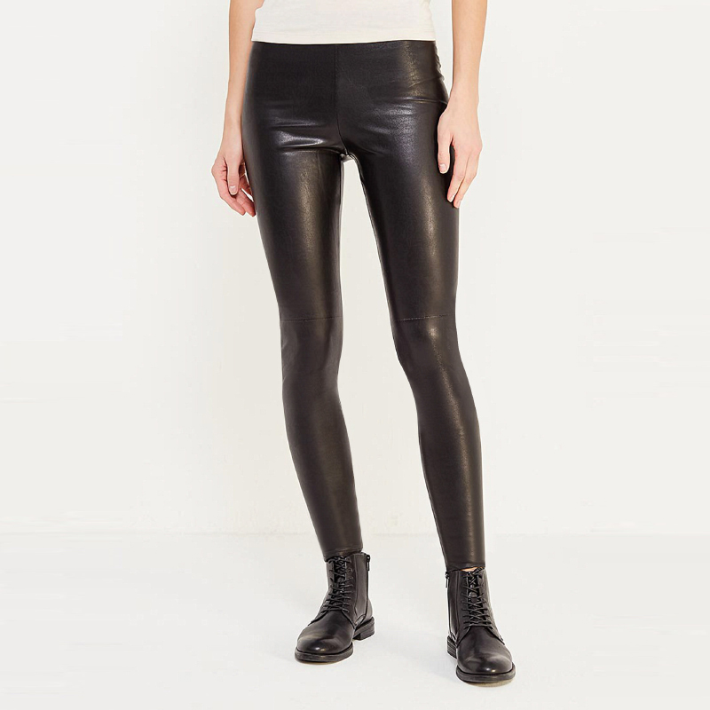 Фото tom farr T W1527 women Leather pants winter 2018 new prouduct