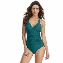 2019 New Swimwear Womens One Piece Sexy Swimsuit Shoulder Cross Straps r Monokini Beach Bathing Swimming Suit Plus Size Bikini
