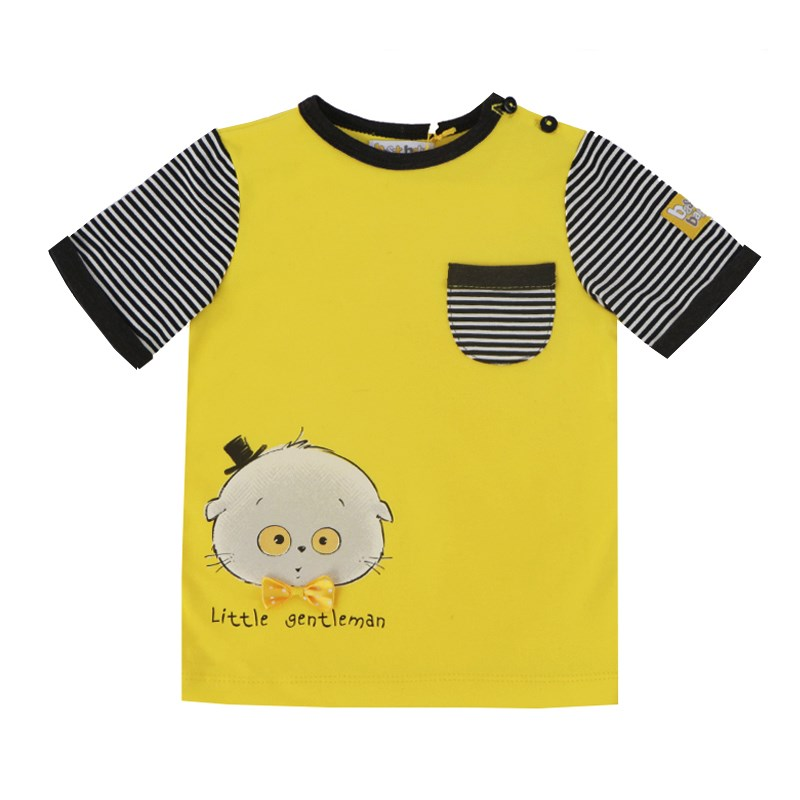 Basik Kids T Shirt yellow kids clothes children clothing цена и фото
