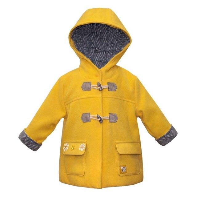 Basik Kids Пальто драповое желтое