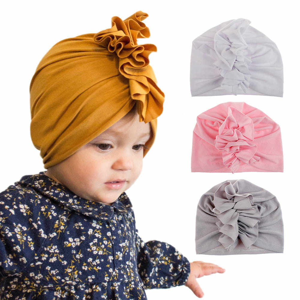 10 Colors Baby Cotton Soft Hats Top Knot Cotton Soft Turban Knot Girl Summer Beanies Hats Kids Newborn Cap for Baby Girls