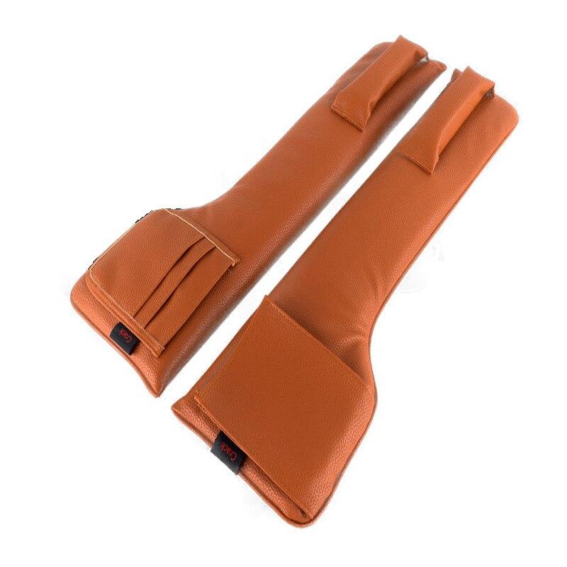 Bag Organizer Car-Seat-Pad Phone-Card-Storage Black 2pcs Gap Slit Pocket-Bar Safety-Belt-Storage