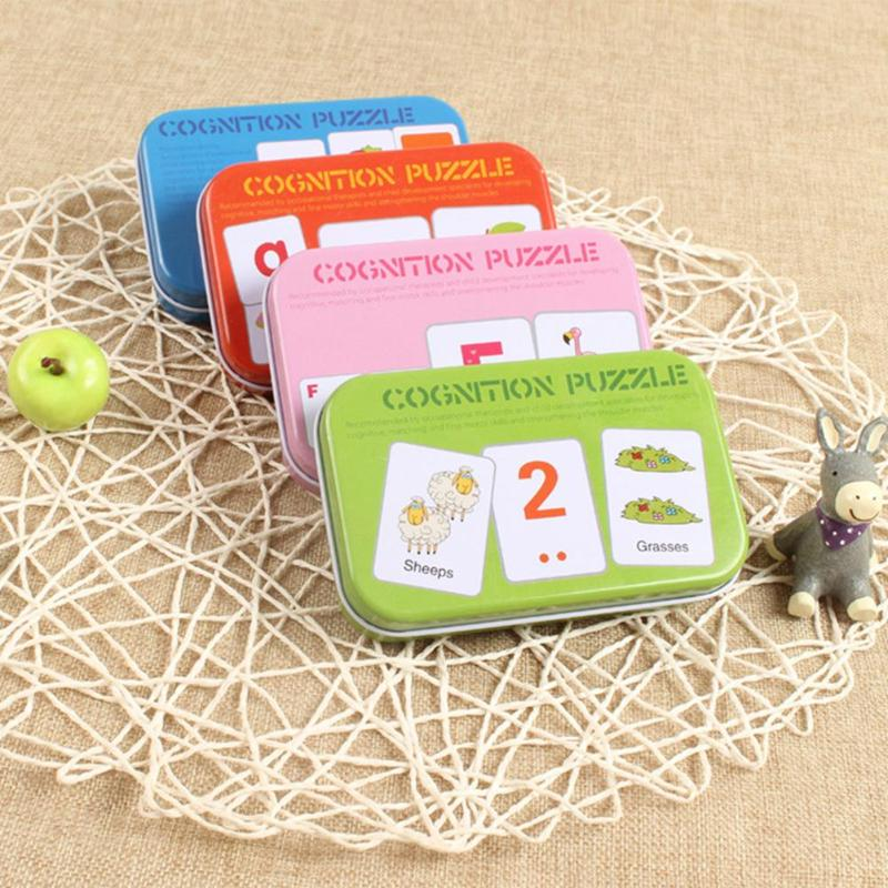 learning educational toys for children Kids Baby Cognitive Pocket Cards Letters Number Animal Shape Training Toy