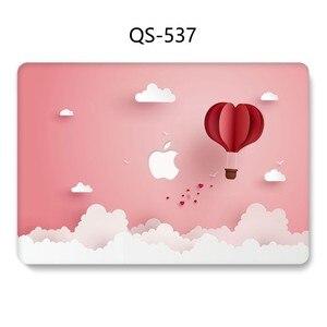 Image 2 - Funda para ordenador portátil para MacBook 13,3 de 15,4 pulgadas para MacBook Air Pro Retina 11 12 13 15 con funda protectora de pantalla para teclado apple bolsa caso