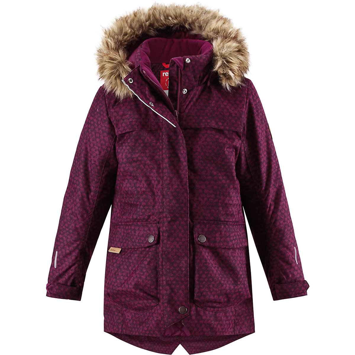 REIMA Jackets 8665446 for girls polyester winter  fur clothes girl jackets