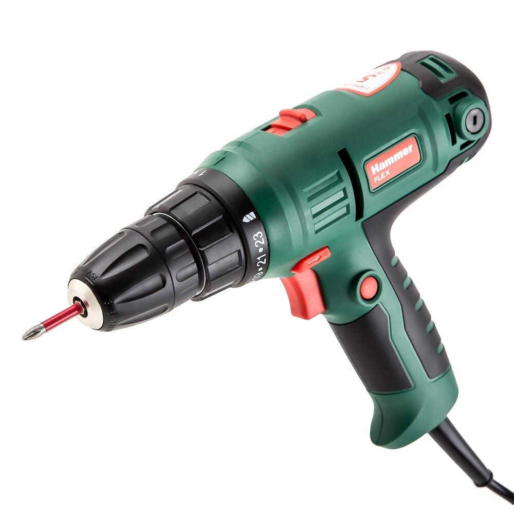 Hammer Flex drill screwdriver DRL420A 300W 10mm 0400 01450 rpm reverse 29Nm 1 10mm metal stable keyed drill chuck convertor 100 angel grinder drill chuck m10 thread