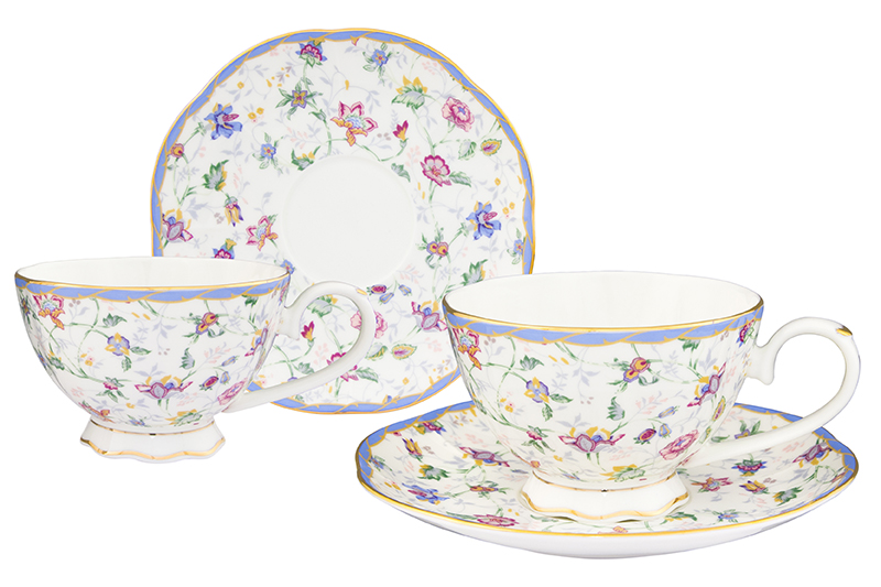Available from 10.11 Tea pair Flower Caprice 4 items Elan Gallery 530043