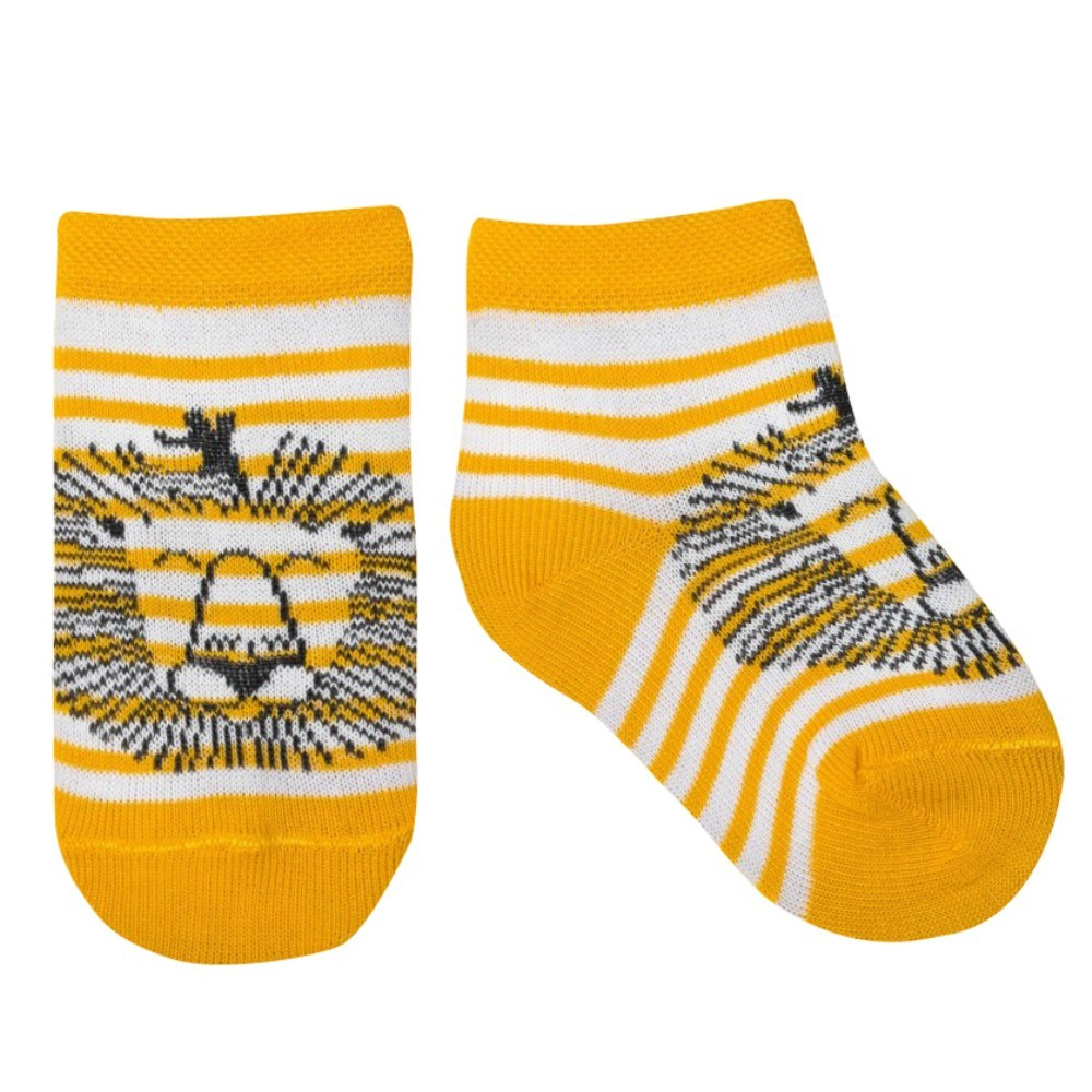 Socks Crumb I Mexico. Leo's, 100% cotton stylish football cotton socks yellow pair