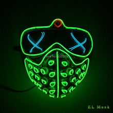 High grade Holidays Led Rave Masks Glowing Party EL Mask Halloween Cosplay Props Watch Dogs Mask Mens Gift