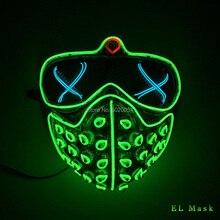 Masques Rave Led vacances, masque EL brillant fête dhalloween, accessoires de Cosplay, masque chien de haute qualité, cadeau pour homme