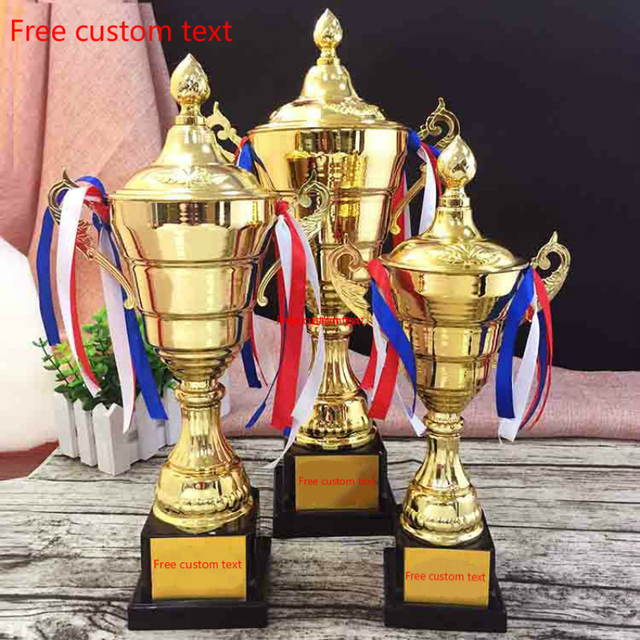 General Purpose Customizable Plastic Trophy Cup Student Gold plated Match  Trophies And Awards For Sports Competition Souvenirs
