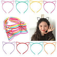 2019 Cat Ears Headband Children'S Plastic Hair Clip Headwear(China)