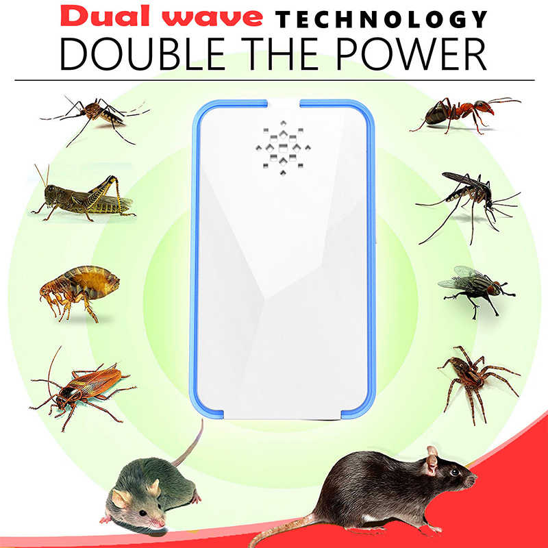 Ultrasonic Pest Repeller Multifunctional Electronic Mouse Rat Pest Control Anti Mosquito Repeller Killer Outdoor Garden Use