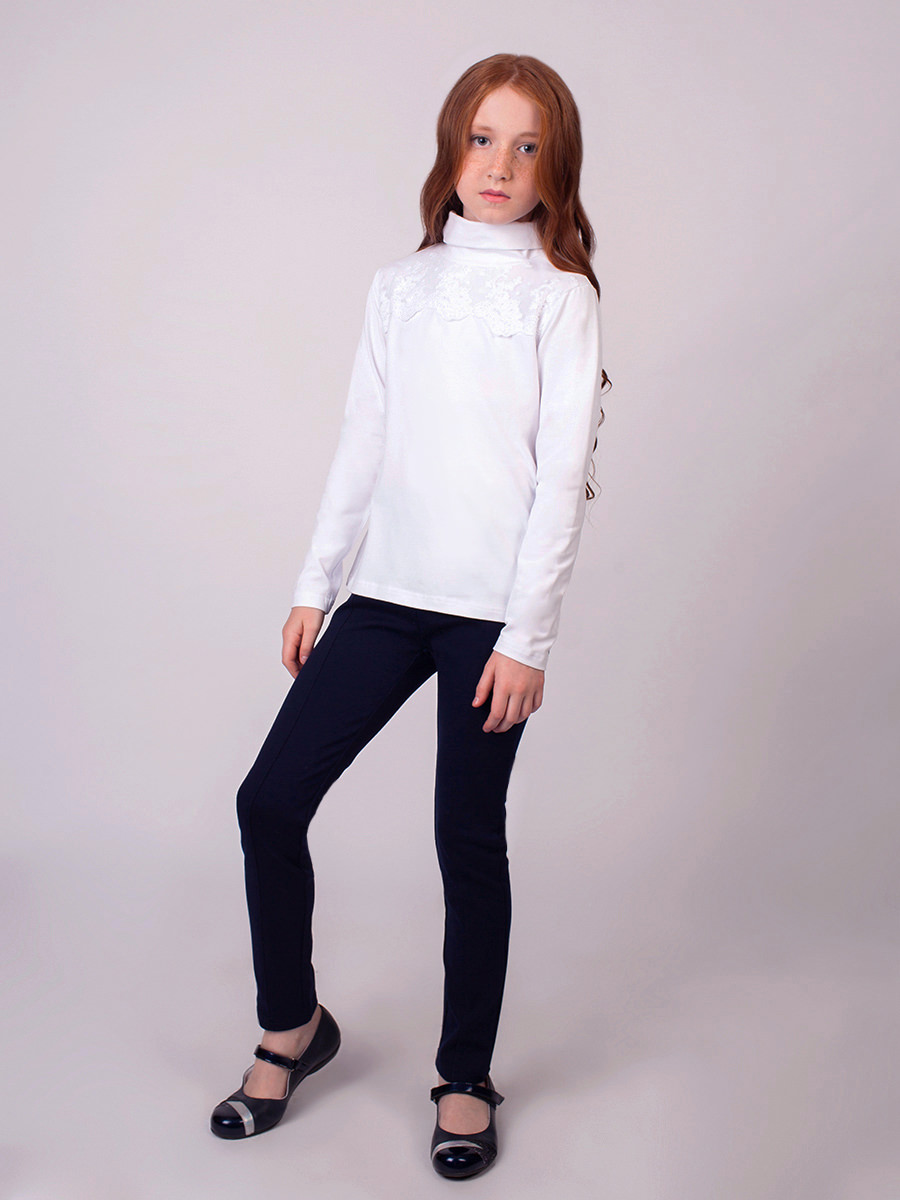 [Available with 10.11] turtleneck knitted girls ribbed turtleneck sweater