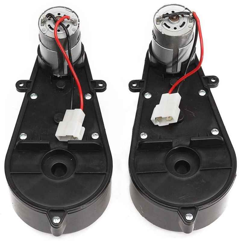 Hot 2 Pcs 550 Universal Children Electric Car Gearbox With Motor, 12Vdc Motor With Gear Box, Kids Ride On Car Baby Car Parts