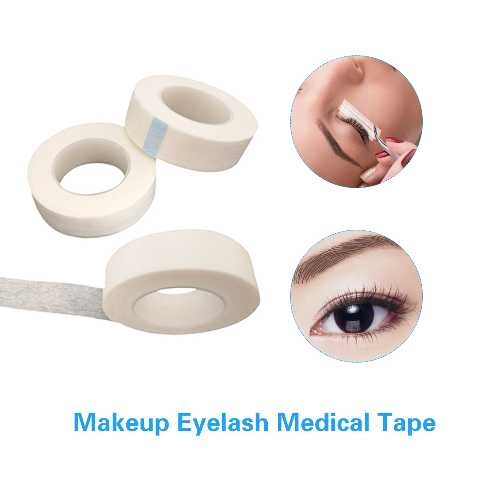 0f1abe7eb71 1 Roll 12.5mm Width White DIY Nonwoven Eyelash Lash Extension Micropore  Paper Medical Tape Adhesive Makeup Tools Accessories-in Eye Shadow  Applicator from ...