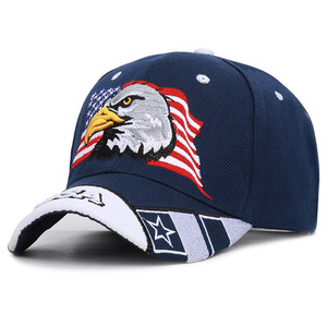 Image 3 - Mens Animal Farm Snap Back Trucker Hat Patriotic American Eagle and American Flag Baseball Cap USA 3D Embroidery