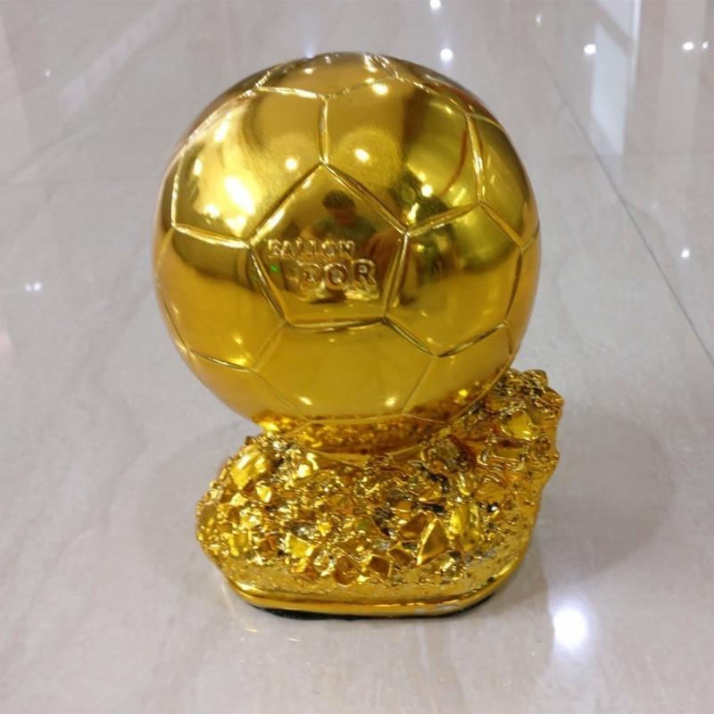 21cm Ballon d'Or Repetition Gold Ball Award World Best Soccer Player Shooter Trofeos De Futbol Fantasy Football Crafts Souvenir