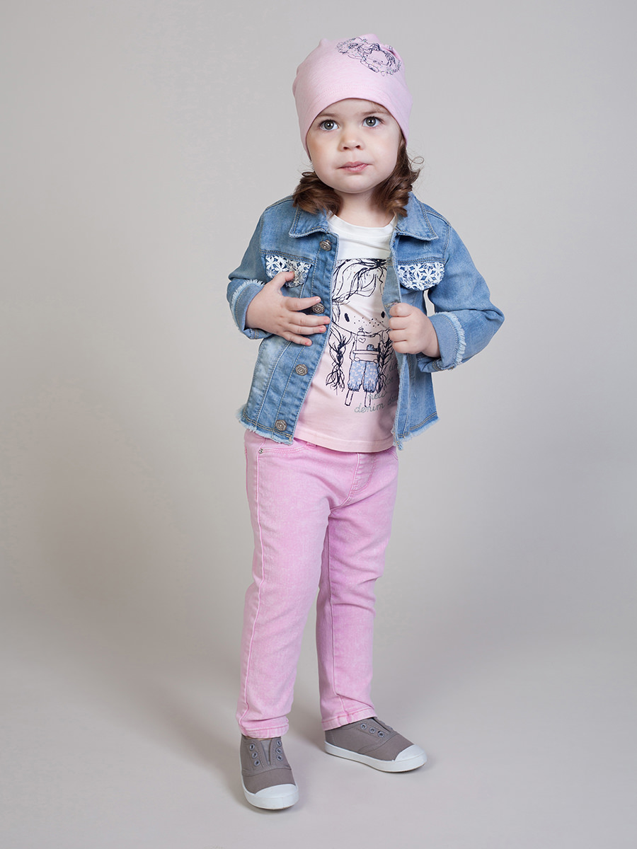 [Available with 10.11] Jacket jeans for girls fleece lined jacket with epaulet