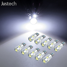 Justech 10x T10 6 SMD 5630 CHIP LED W5W Canbus Parking Light White 6 SMD 5630 LED, super bright. светодиодная лента csj 5 coll smd 5630 csj 5630