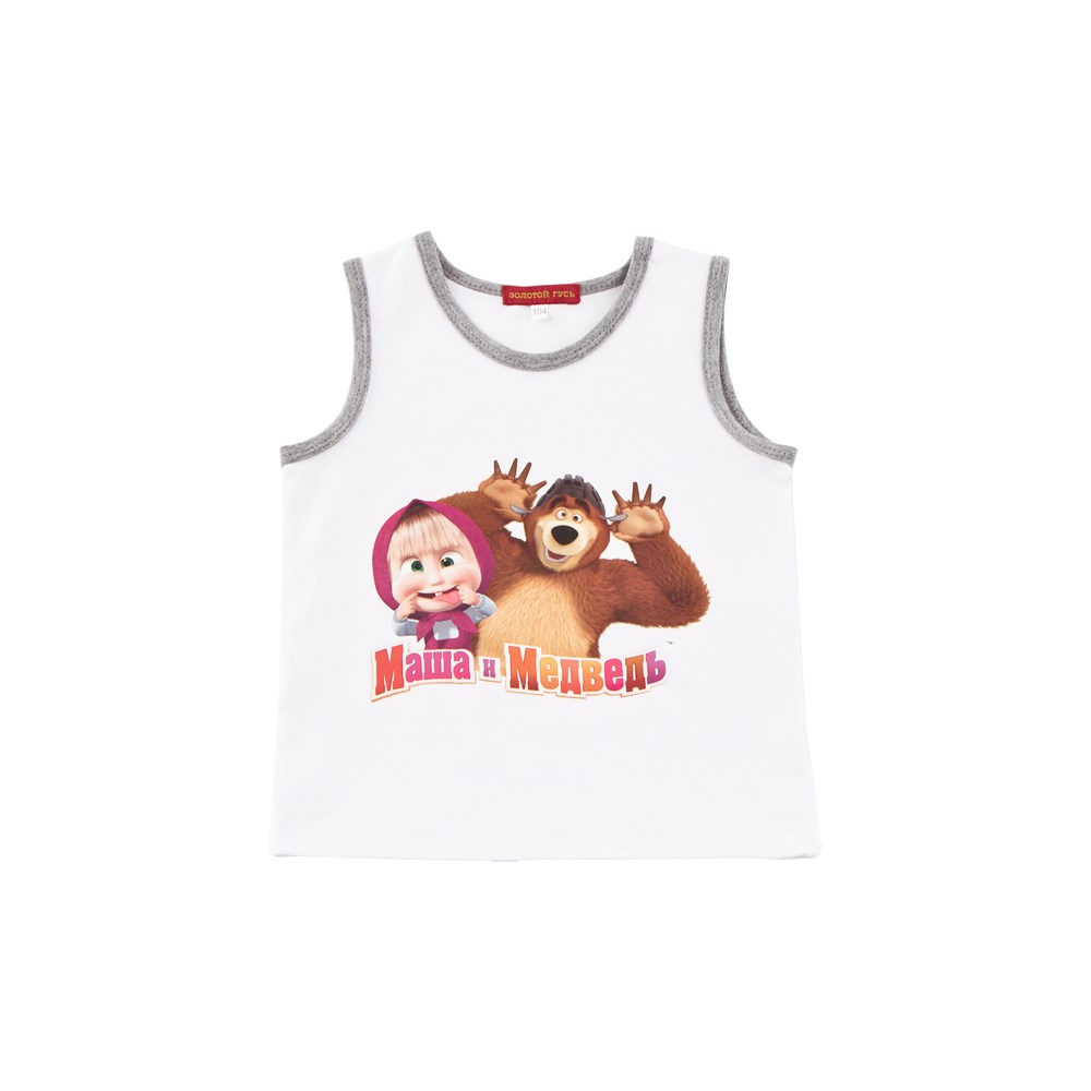 Masha and Bear Shirt T shirt white M charming white cami tank and zipper fly bowknot lace t shirt for women