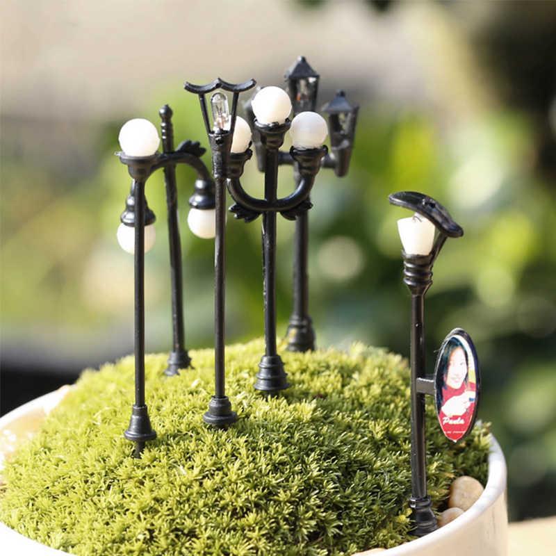 1PC Kreatif Mini Kerajinan Taman Buatan Mikro Lansekap Diy Vintage Lampu Dekorasi Rumah Miniatur