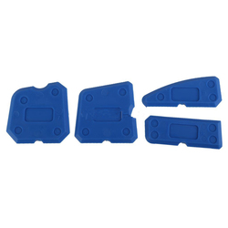 4 개 블루 코킹 도구 키트 코킹 마무리 공동 실란트 실리콘 그라우트 리무버 스크레이퍼 홈 & 정원 도구 키트 손 도구