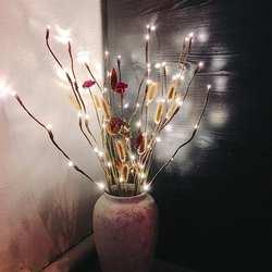 Имитация ветки дерева праздничные светодиодные лампы Nordic комната спальня макет творческий ночник ясно бар дом декоративная светящаяся