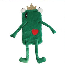 3D cute frog Fur Silicone Phone Cases For iPhone X 8 7 6 s 6s Plus XS Max XR heart Plush funny Big Eyes Frog prince Girls
